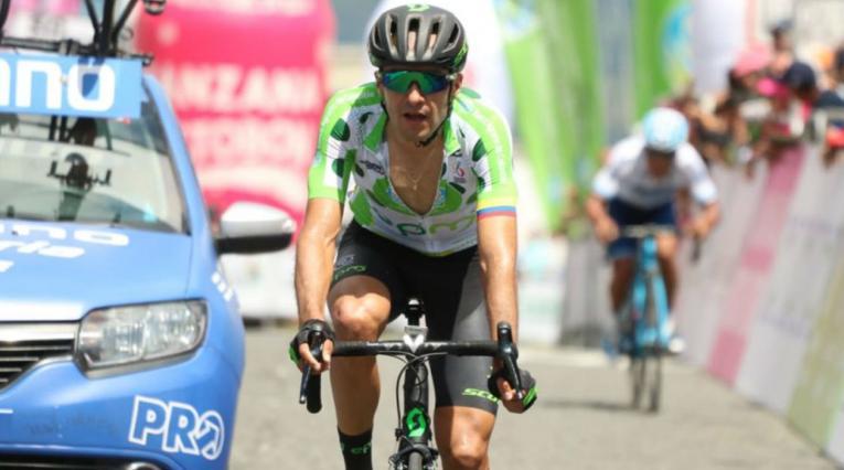 Juan Pablo Suárez, ciclista del EPM-Scott, se impuso en la quinta etapa de la Vuelta a Colombia