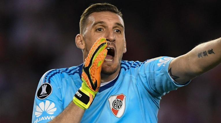 Franco Armani fue titular con River Plate ante Racing en la Copa Libertadores
