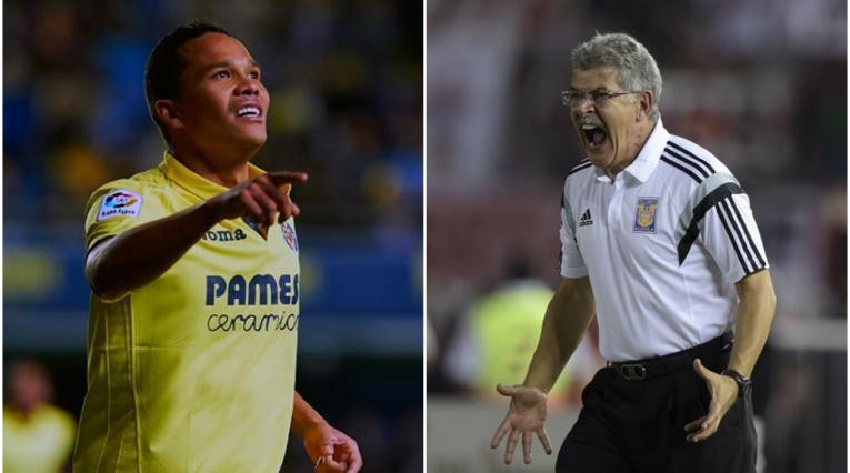 Carlos Bacca y Ricardo 'El Tuca' Ferretti