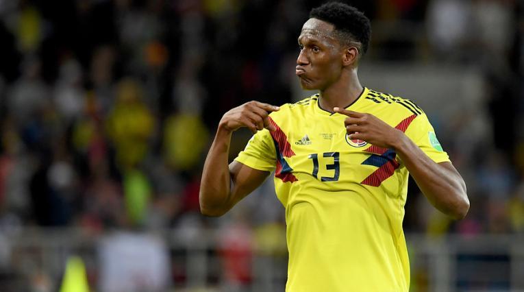 Yerry Mina con la Selección Colombia en Rusia 2018