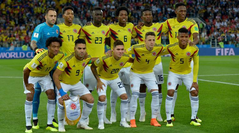 La Selección Colombia que enfrentó a Inglaterra en los octavos de final de Rusia 2018