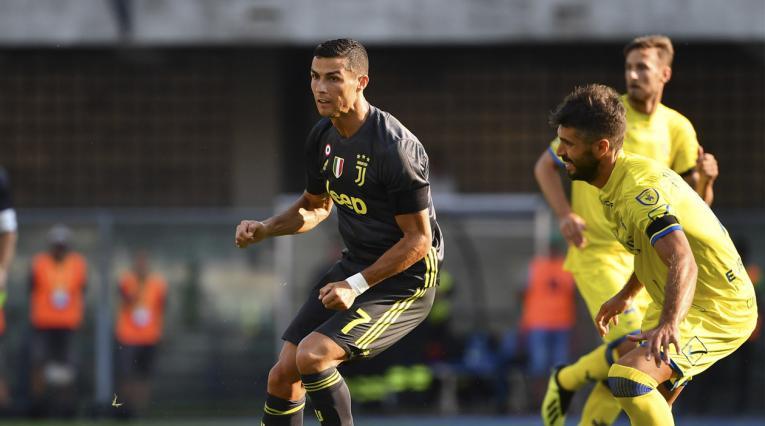 Cristiano Ronaldo jugando con la Juventus de Turín