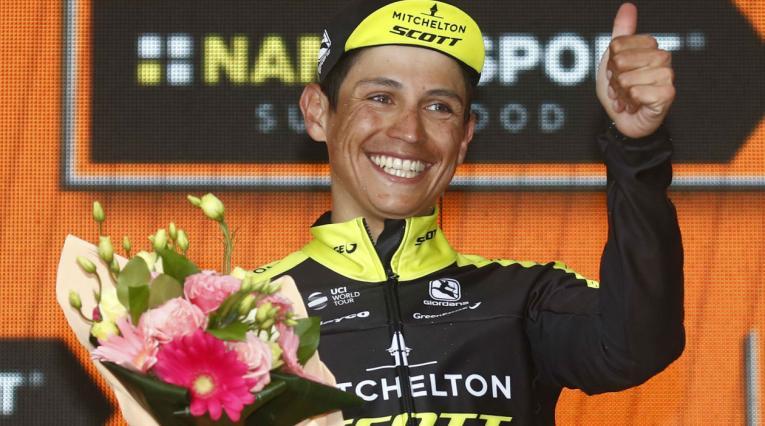 Esteban Chaves, ciclista del Mitchelton-SCOTT en el Giro de Italia 2018