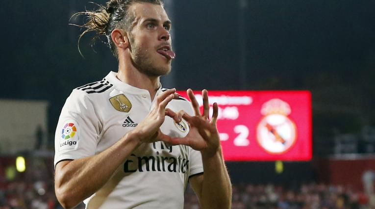 Gareth Bale celebrando un gol con el Real Madrid