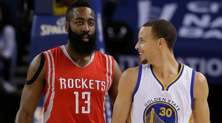 James Harden y Stephen Curry disputaron la final de la Conferencia del Oeste