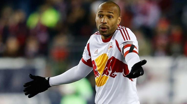 Thierry Henry portando la camiseta del New York Red Bulls