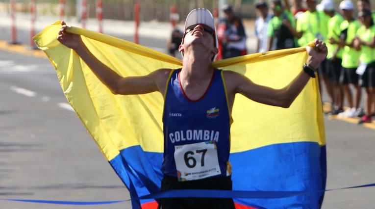 Jeison Suárez venció en la maratón masculina de los Centroamericanos 2018
