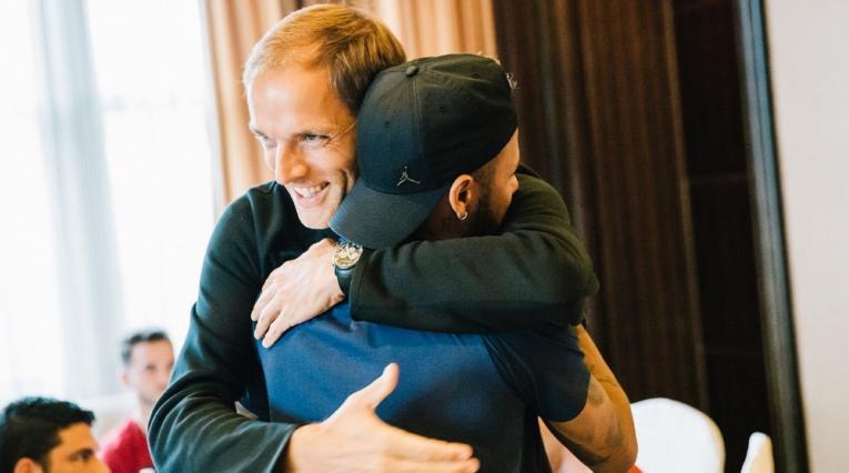 El técnico Tuchel y el jugador Neymar se encontraron por primera vez