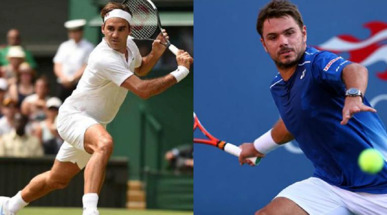 Roger Federer y Stanislas Wawrinka, tenistas Suizos