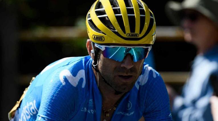 Alejandro Valverde, ciclista del Team Movistar