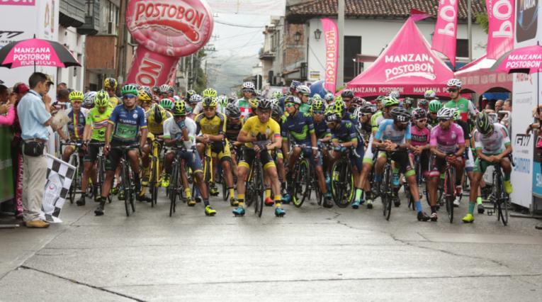 Imagen tomada de la competencia ciclística en el 2017