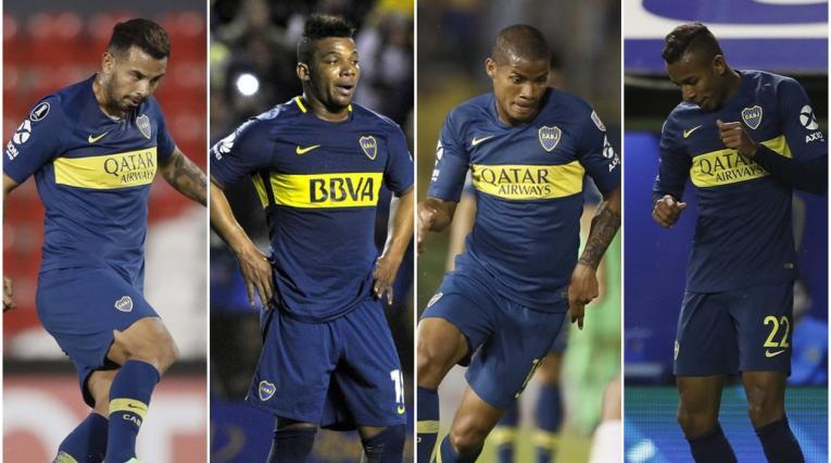 Edin Cardona, Frank Fabra, Wilmar Barrios y Sebastián Villa