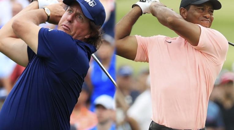 Phil Mickelson y Tiger Woods listos para la Ryder Cup