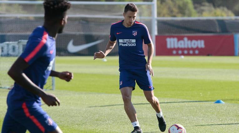 Santiago Arias, Atlético de Madrid, entrenamiento 2018