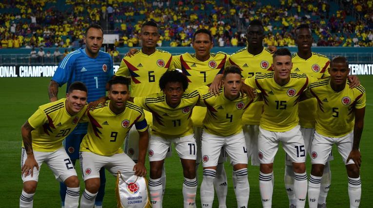 Selección Colombia en la última Fecha FIFA