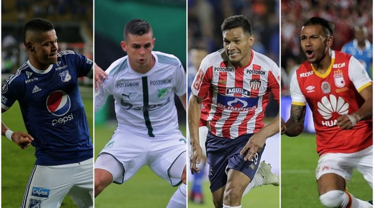 Ayron Del Valle, Nicolás Benedetti, Teófilo Gutiérrez y Wilson Morelo