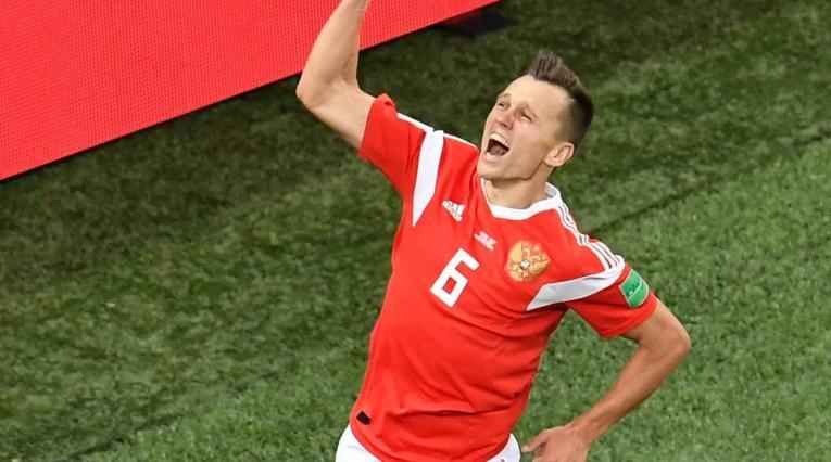 Denis Cheryshev, delantero de la selección rusa