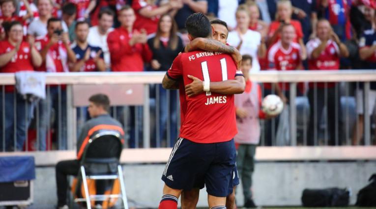 James marcó gol con el Bayern Múnich