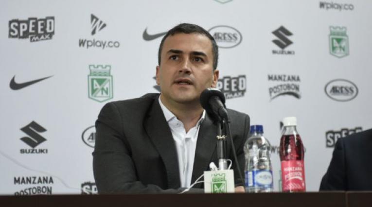 Juan David Pérez, presidente de Atlético Nacional