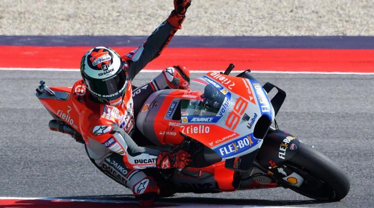 Jorge Lorenzo consiguió la 'pole' del Gran Premio de Aragón de MotoGP