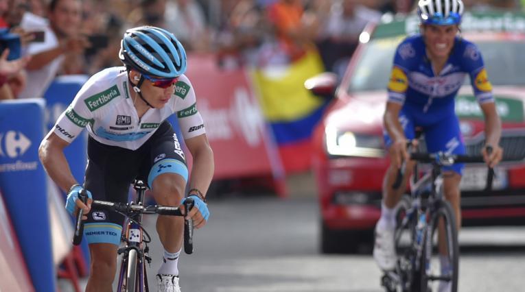 Miguel Ángel López quedó tercero en la Vuelta a España