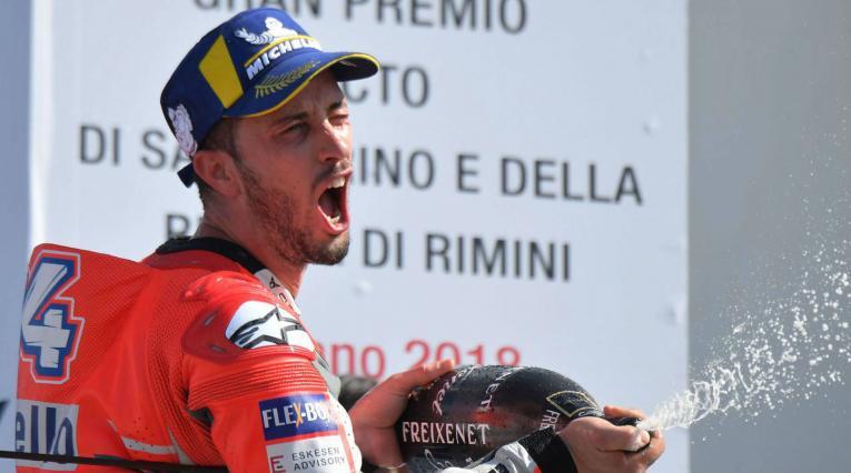 Andrea Dovizioso se hizo con la victoria en el Gran Premio de San Marino de MotoGP