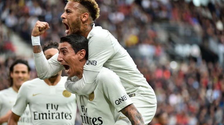 Neymar, PSG, Ágel Di María, París Saint Germain