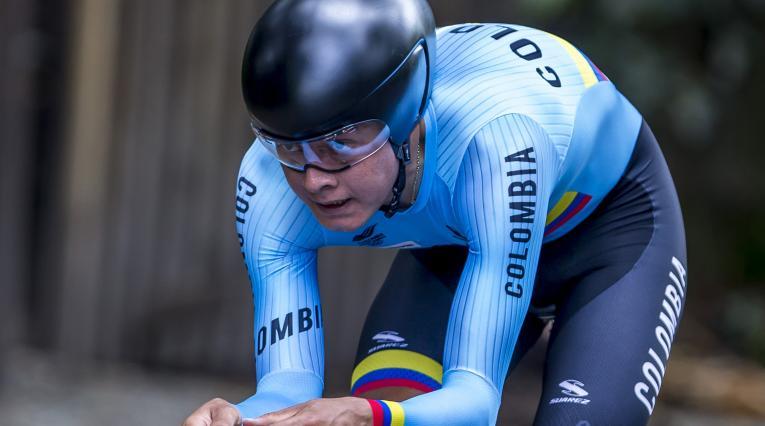Rodrigo Contreras en la prueba de contrarreloj del Mundial en Innsbruck