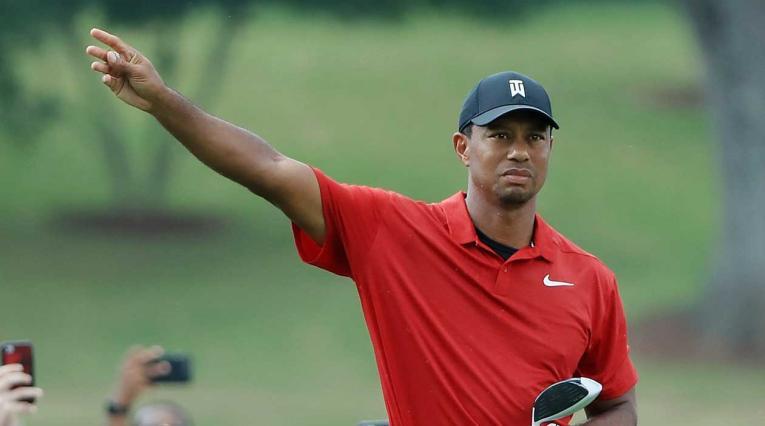 Tiger Woods durante la cuarta jornada del Tour Championship 2018