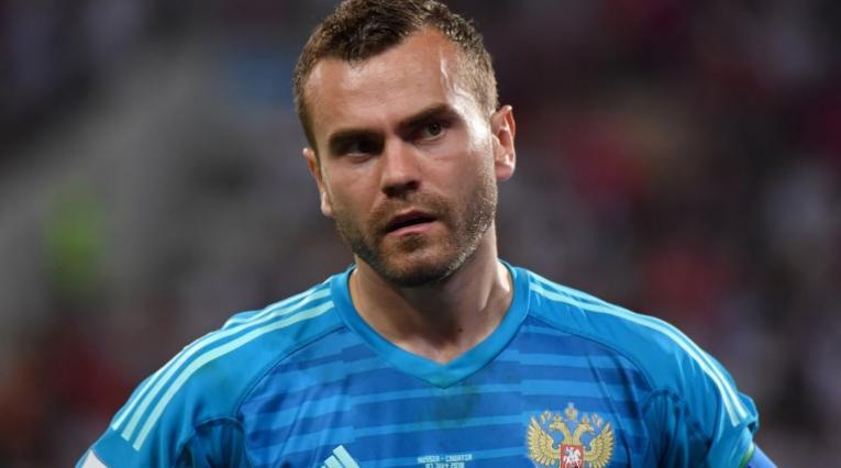 El portero ruso Ígor Akinféev renunció al selección de su país.