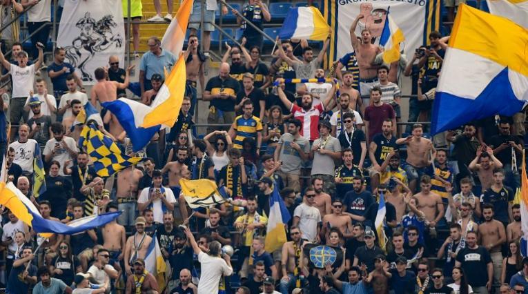 Hinchas del Parma de Italia