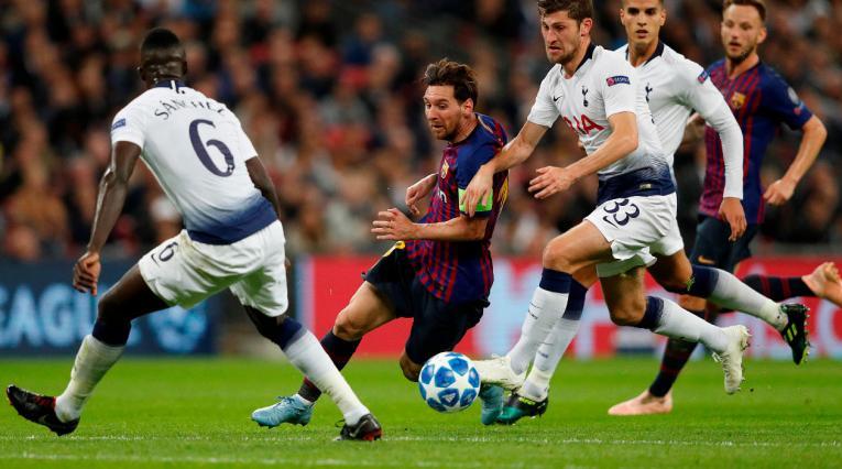 Messi fue el más destacado del Barcelona ante el Tottenham