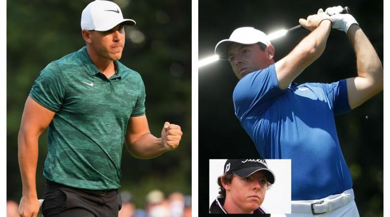 Brooks Koepka y Rory Mcilroy, dos de los pegadores fuertes del PGA Tour.