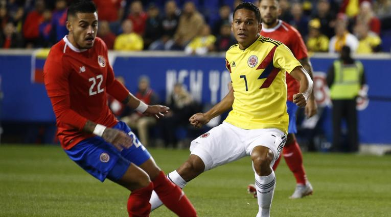 Colombia en partido ante Costa Rica