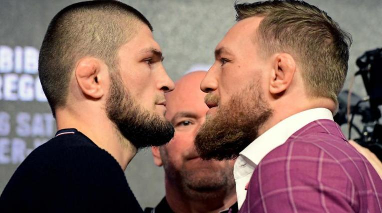 Khabib Nurmagomedov y Conor McGregor, luchadores de AMM