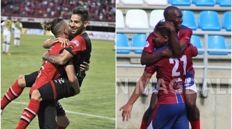 Jugadores de Cúcuta Deportivo y Unión Magdalena