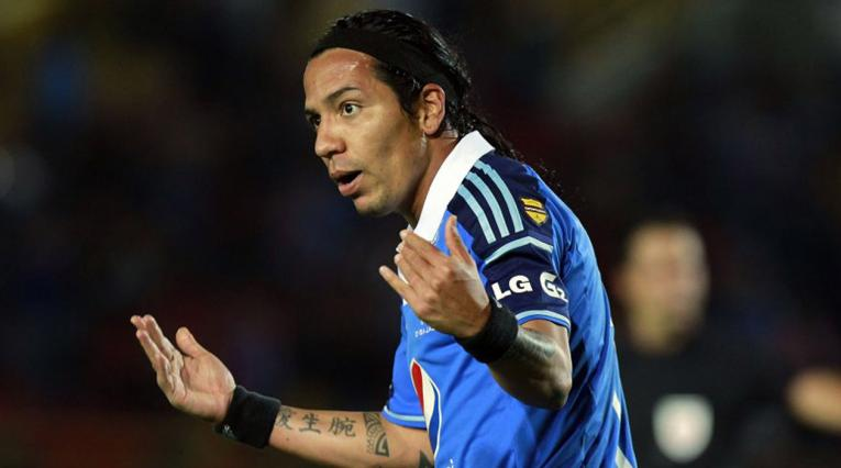 Dayro Moreno jugando con Millonarios