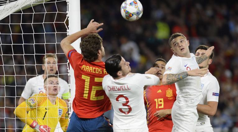 España pierde ante Inglaterra