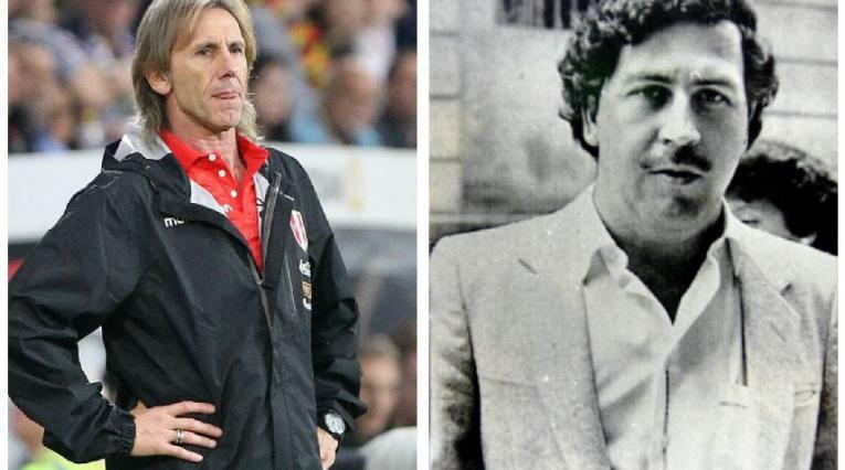 Ricardo Gareca y Pablo Escobar