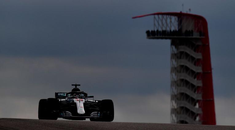 Lewis Hamilton durante la clasificación del Gran Premio de Estados Unidos de Fórmula 1