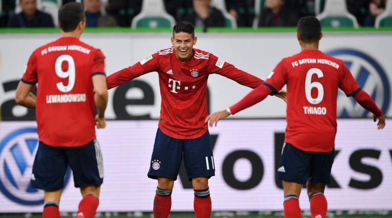 Lewandowski, James y Thiago