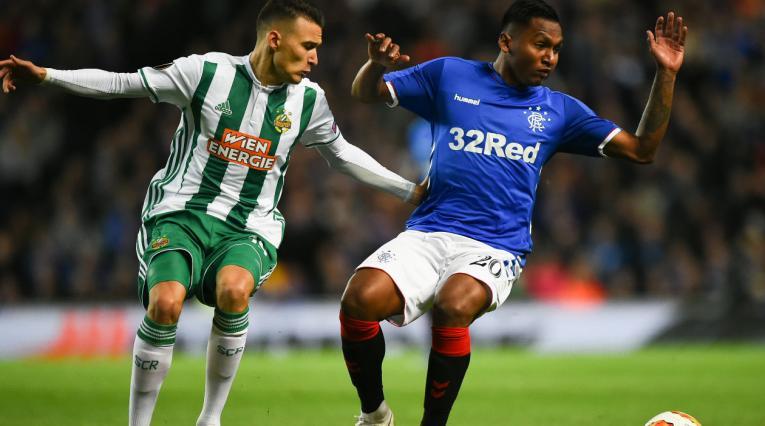 Alfredo Morelos, jugador del Glasgow Rangers