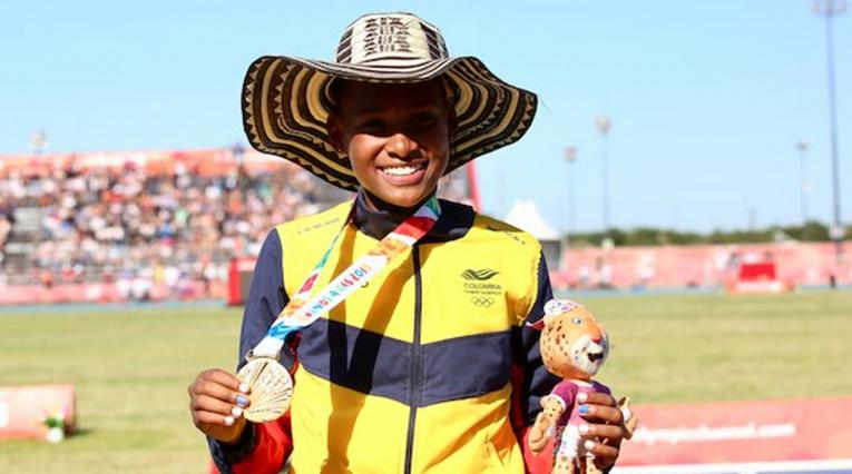 Valeria Cabezas ganó el cuarto oro olímpico juvenil de Colombia - Finalizó el atletismo en los III Juegos Olímpicos de la Juventud