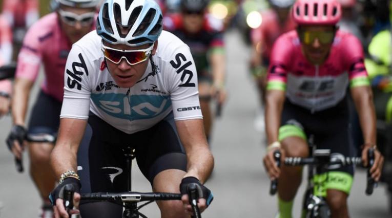 Chris Froome en el 'Giro de Rigo'
