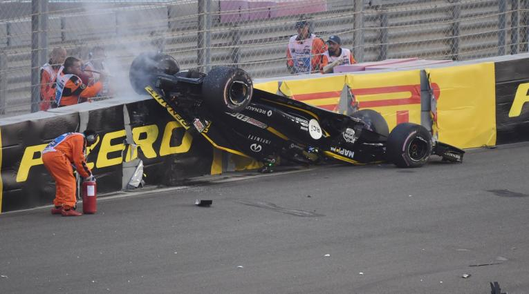 Accidente de Hülkenberg en la F1