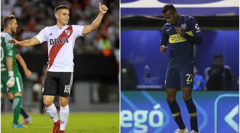 Rafael Santos Borré y Sebastián Villa