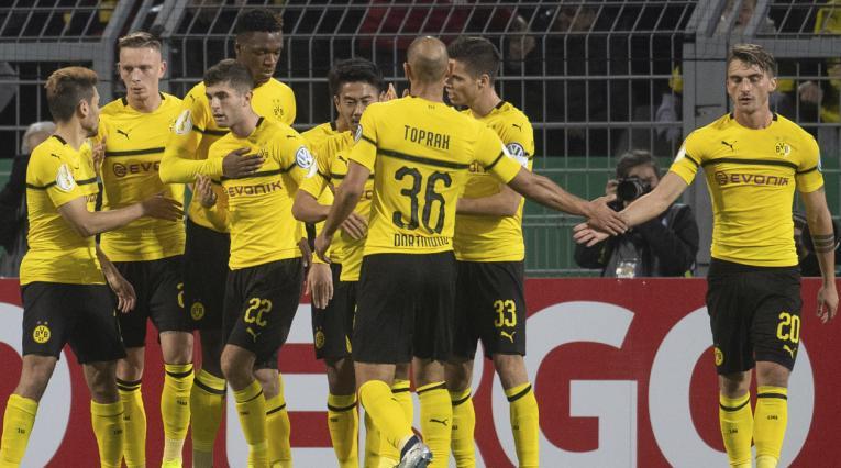 Borussia Dortmund, jugadores celebrando un gol