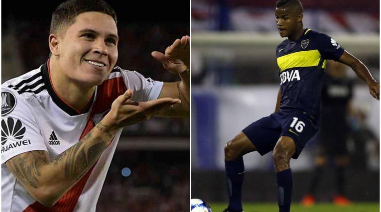 Colombianos en River Plate y Boca Juniors