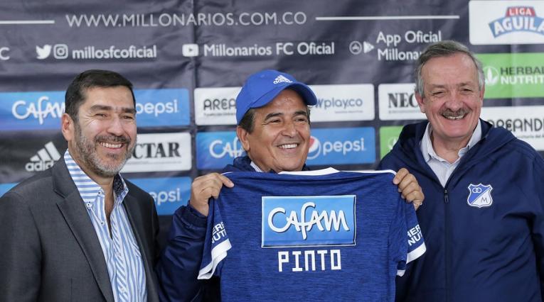 Jorge Luis Pinto, nuevo técnico de Millonarios