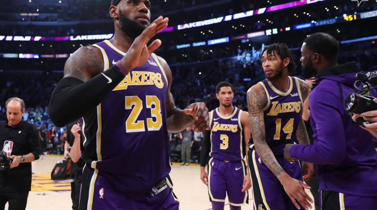 LeBron James, figura de los Lakers